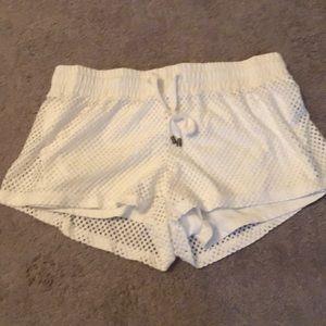 White flabletics athletic shorts